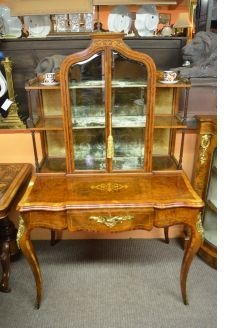19th century burr-walnut cabinet