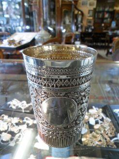 Victorian silver beaker