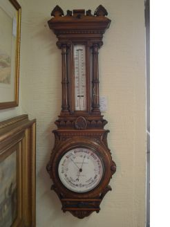 Edwardian cased barometer