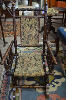 Childs mahogany rocking chair