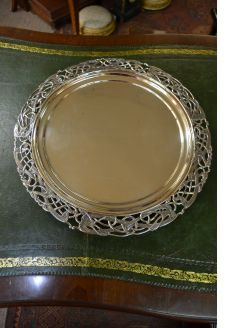 Irish silver salver