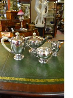 Silver four piece tea set