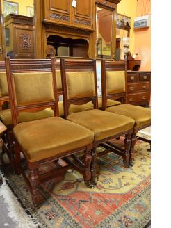 set of six late 19th century chairs