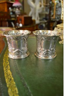 Pair of Irish silver pots
