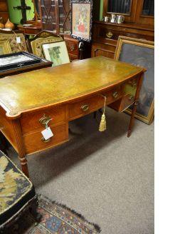 Satinwood side table/desk