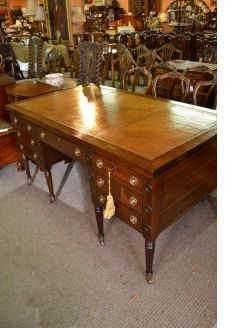 Mahogany leather topped desk