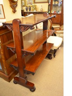 Victorian ,Mahogany three tier dumb waiter