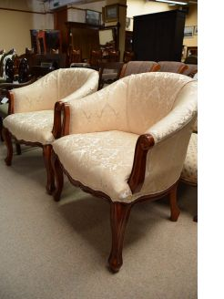 Pair of mahogany tub chairs