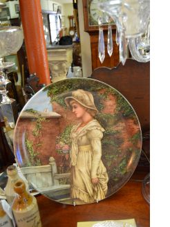 Hand painted plate,signed