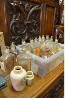 Collection of old chemist bottles