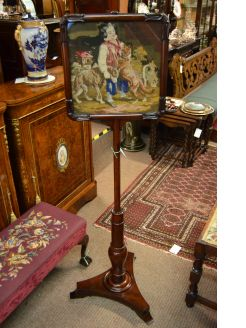 Rosewood pole screen