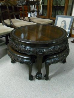 Chinese carved nest of tables