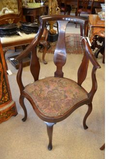 Edwardian corner chair
