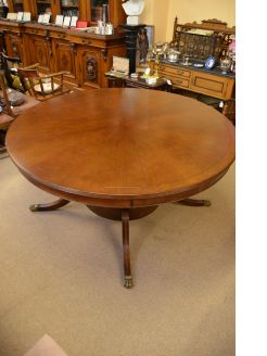 Oak circular table