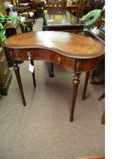 Mahogany kidney shaped desk