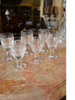 Set of six waterford sherry glasses