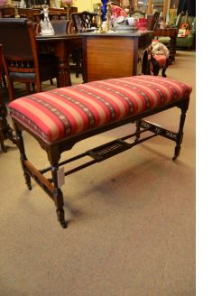Victorian rosewood duet stool
