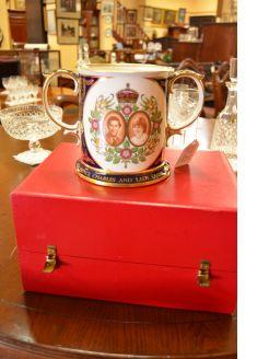 Spode royal wedding loving cup