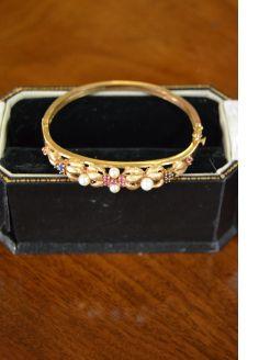 14ct ruby & sapphire bangle