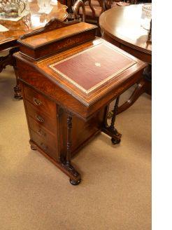 Victorian rosewood davenport