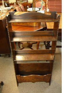 Oak floor bookcase