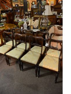 Set of eight rosewood chairs