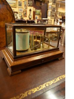 Oak cased barograph