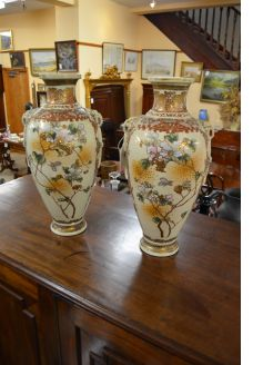 A pair of Japanese Satsuma vases