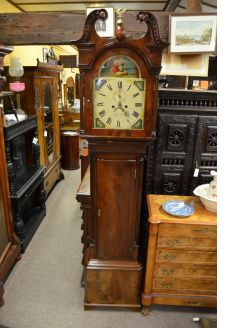 19th century mahogany grandfather clock
