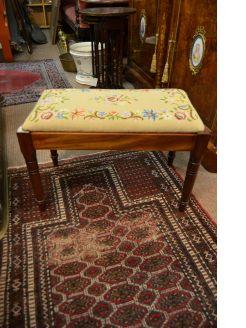 Edwardian mahogany stool