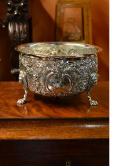 Victorian irish silver bowl