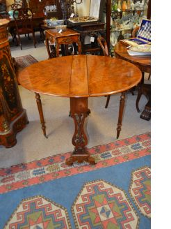 Victorian burr-walnut sutherland table