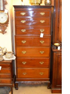 Tall Mahogany chest