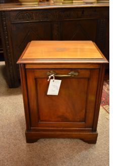 Edwardian mahogany coal box