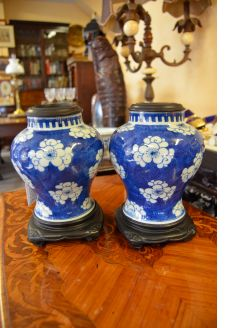 Pair of 19th century chinese vases on stands