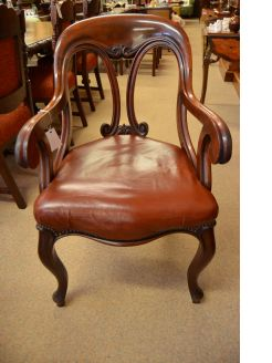 Victorian mahogany desk/armchair