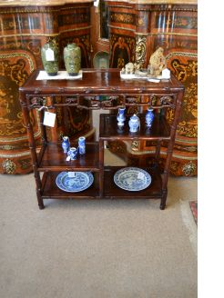 Chinese cherrywood display stand