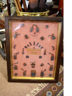 Oak & glass cased 1930s display