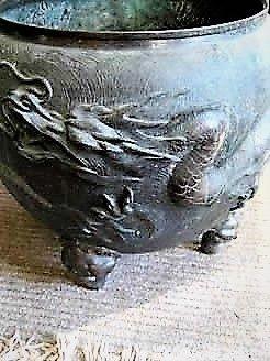 19th century chinese bronze planter,