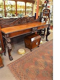William IV Irish carved mahogany serving table