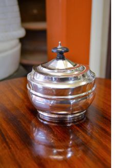 Silver victorian tea caddy