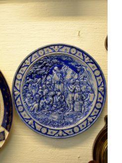 German stoneware plate