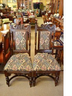 Set of 12 oak chairs
