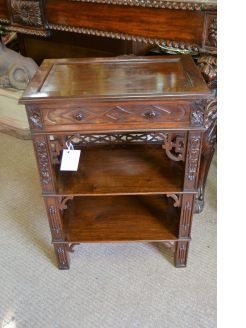 Chinese mahogany side table