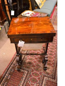 19th century mahogany games table