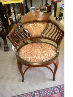 Edwardian mahogany chair