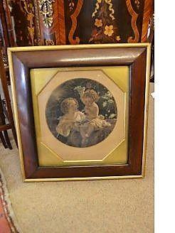 Victorian rosewood framed engraving
