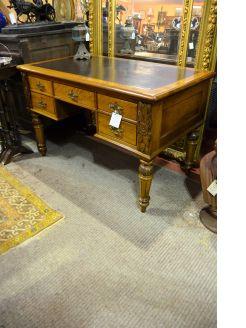 Victorian oak desk