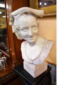 Marble Bust of lady
