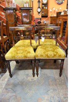 Set of 4 regency rosewood chairs